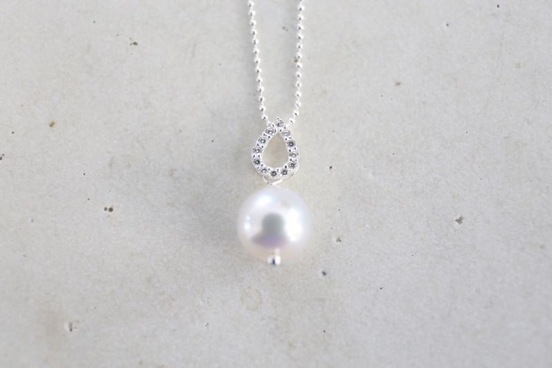 画像2: SILVER925 akoyapearl  necklace