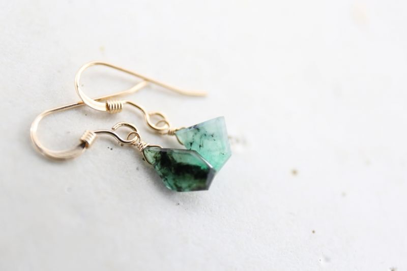 画像4: 14KGF  Ssize emerald pierce