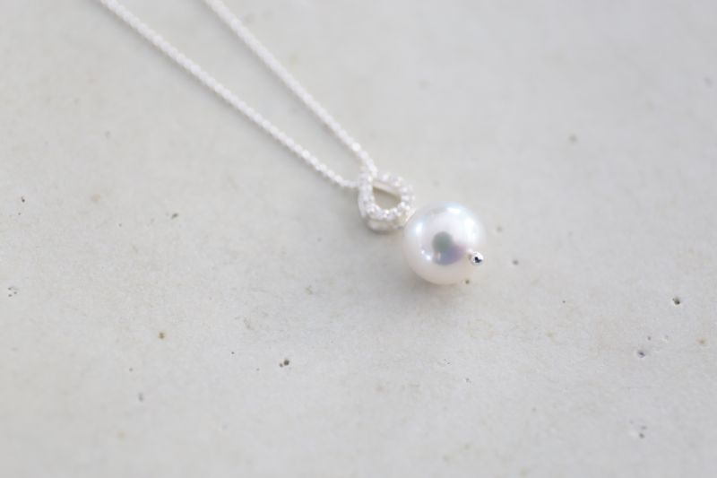 画像3: SILVER925 akoyapearl  necklace