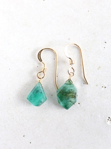 画像2: 14KGF Msize emerald pierce