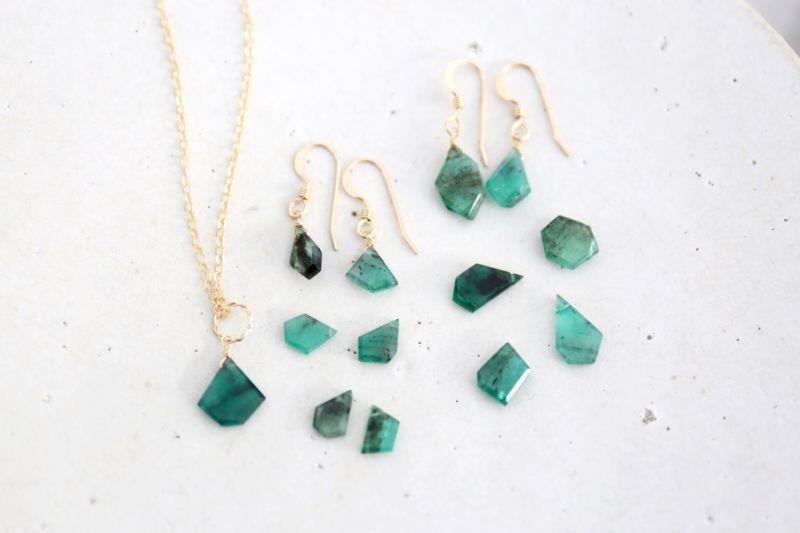 画像2: 14KGF Lsize emerald necklace