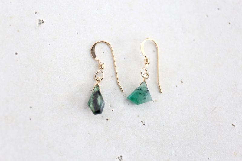 画像2: 14KGF  Ssize emerald pierce