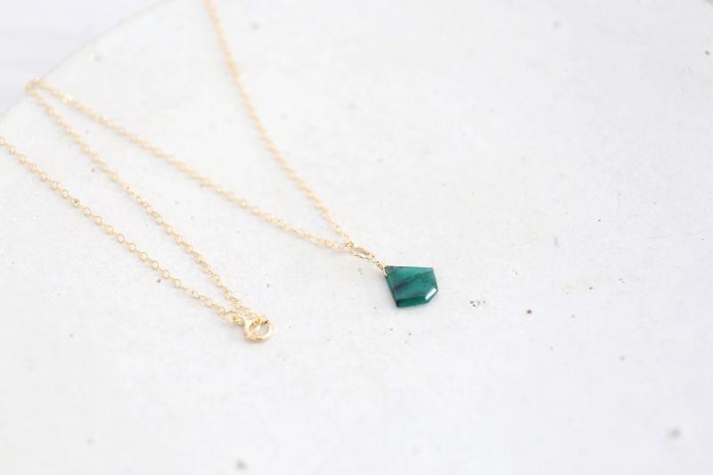 画像4: 14KGF Lsize emerald necklace