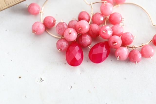 画像4: 14KGF pink jade pierce