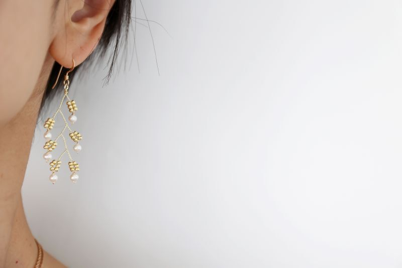 画像3: 14KGF baby pearl pierce
