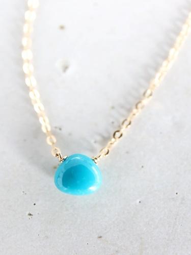 画像2: 14KGF turquoise necklace