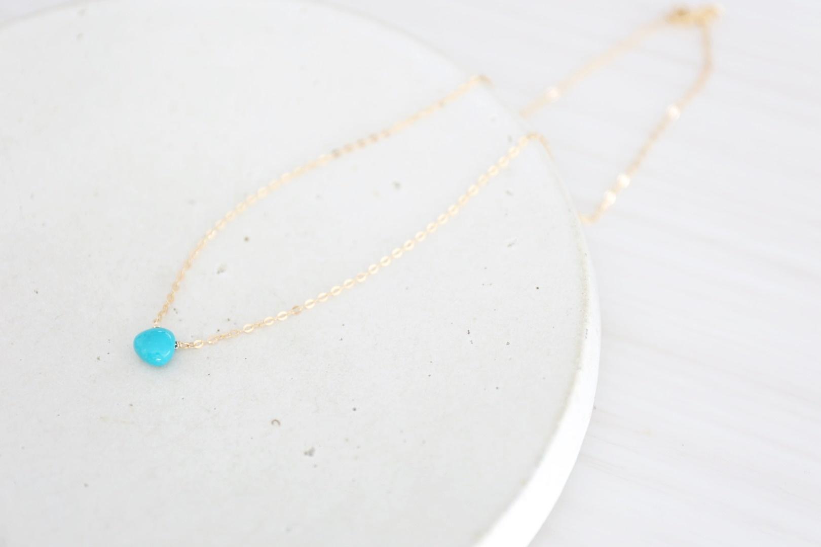 画像3: 14KGF turquoise necklace