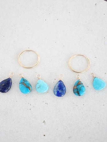 画像2: 14KGF turquoise  lapis lazuli pierce