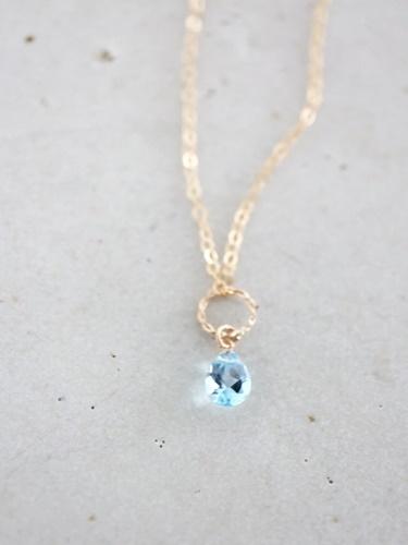 画像1: 14KGF  blue topaz necklace