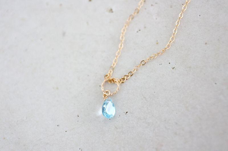 画像3: 14KGF  blue topaz necklace