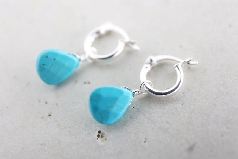 画像3: SILVER925 turquoise pierce