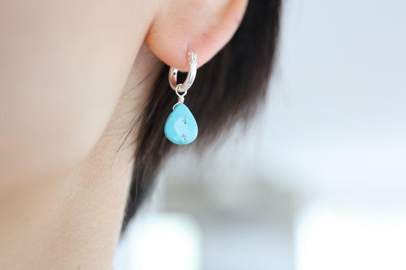 画像5: SILVER925 turquoise pierce