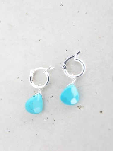 画像1: SILVER925 turquoise pierce