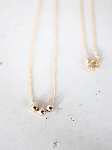 画像1: 14KGF   gold necklace
