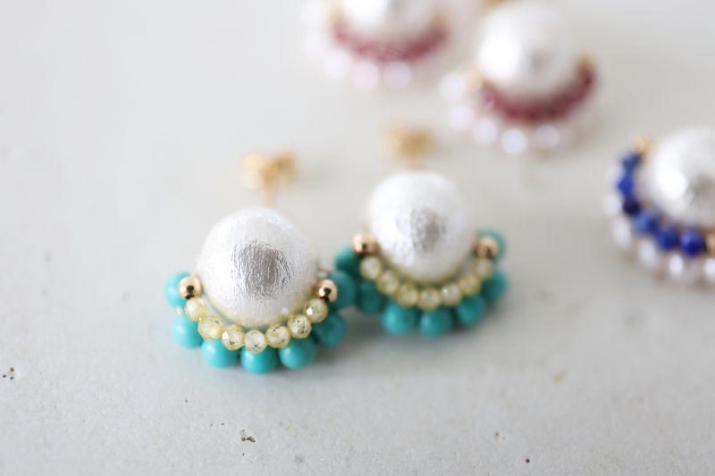 画像3: 14KGF  cotton pearl pierce