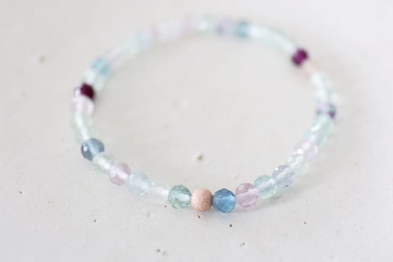 画像3: MultiColor   fluorite bracelet