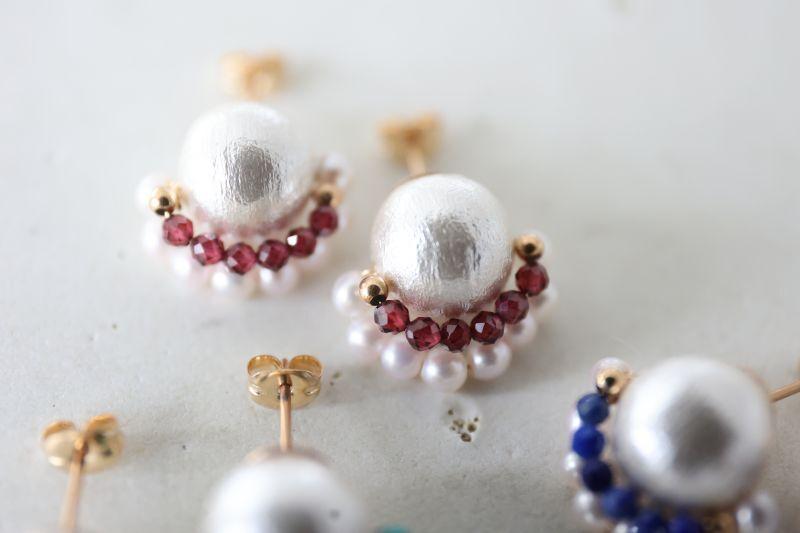 画像4: 14KGF  cotton pearl pierce