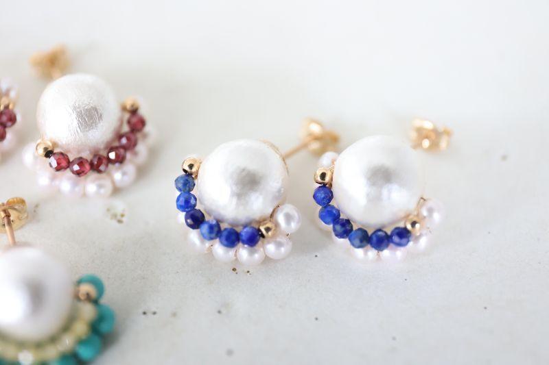 画像2: 14KGF  cotton pearl pierce