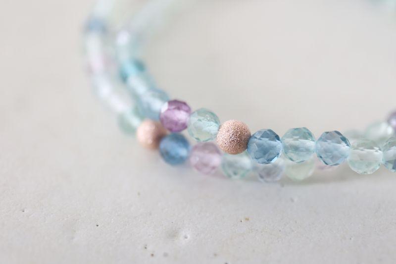 画像2: MultiColor   fluorite bracelet