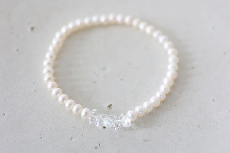 画像3: pearl herkimerdiamond bracelet