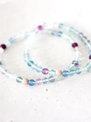 画像1: MultiColor   fluorite bracelet