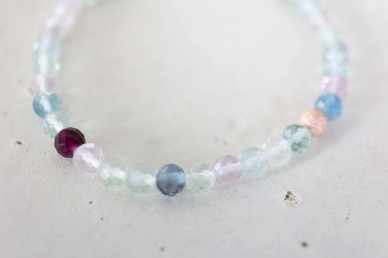 画像4: MultiColor   fluorite bracelet