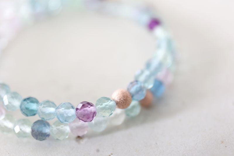 画像5: MultiColor   fluorite bracelet